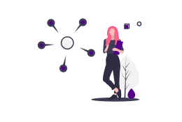 Analyze Graphic Person Standing and Thinking