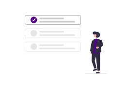 Topic Selection Graphic Person with circle checkbox