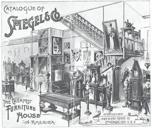 Spiegel's furniture shop catalog cover from 1865