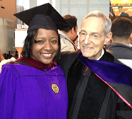 Ted Spiegel and student at graduation